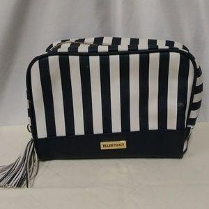 Ellen Tracy 100% PU Nautical Cosmetic Travel Bag